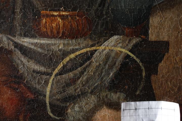 Abb. 23 Craquelé, Detail, Abendmahl